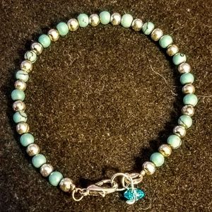 Jewelry - Vintage 925 and turquoise bracelet